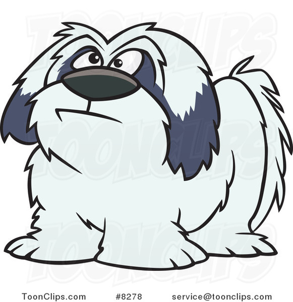 Cartoon Shaggy Dog