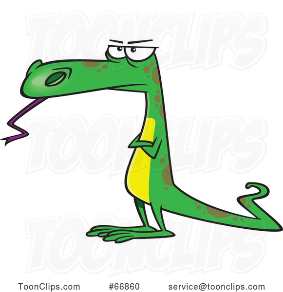 Cartoon Skeptical Dinosaur or Lizard
