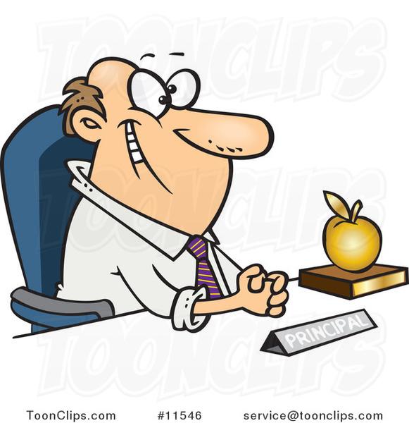 Le jeu du nombre en image... (QUE DES CHIFFRES) - Page 2 Cartoon-smiling-school-principal-by-ron-leishman-11546
