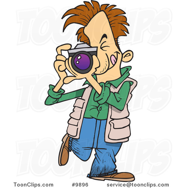 Cartoon Snappy Photographer 9896 By Ron Leishman