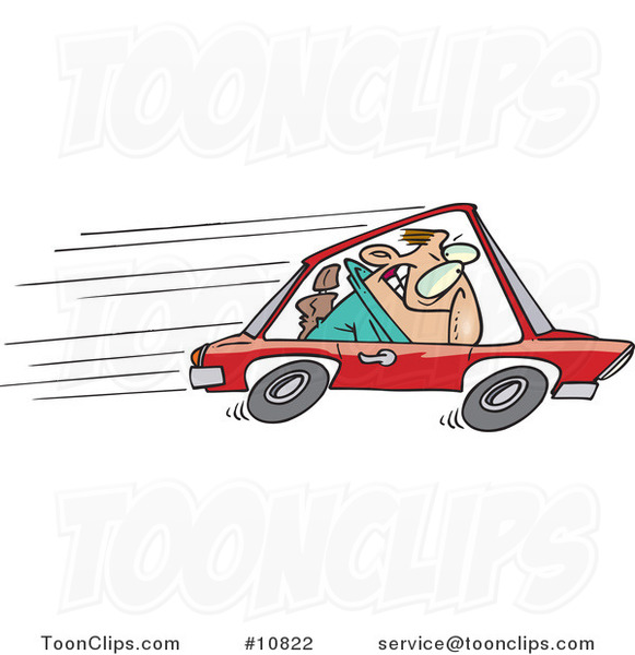 cartoon speeding driver 10822 by ron leishman animated basketball clipart Animated Baseball Player