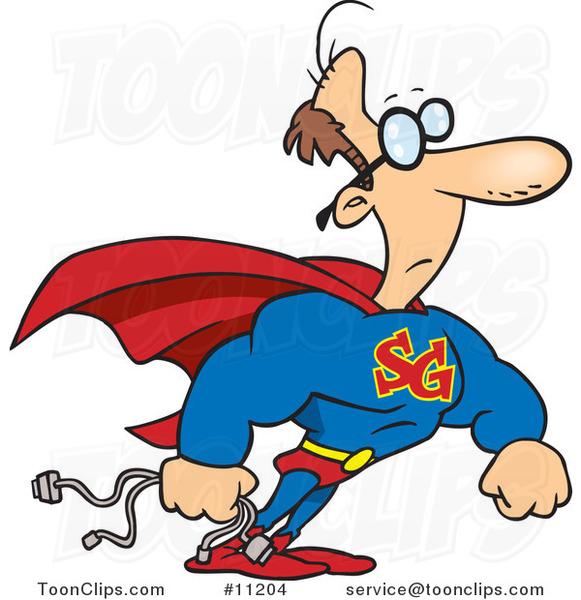 Cartoon Super Geek 11204 By Ron Leishman