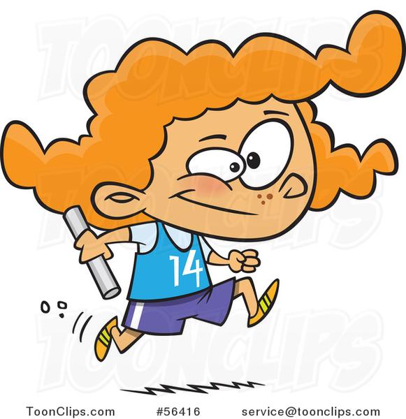 children running race clipart