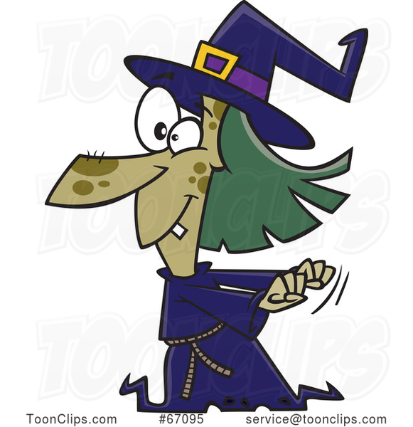 Cartoon Witch Dancing