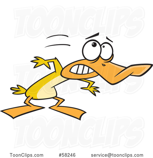Cartoon Yellow Duck Ducking