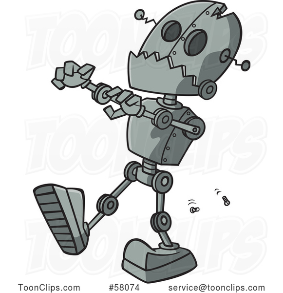 Cartoon Zombie Robot