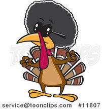 Cartoon Jive Turkey Bird with an Afro by Toonaday