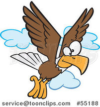 Cartoon Bald Eagle Flying by Toonaday