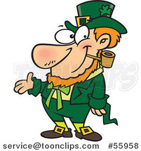 Cartoon St Patricks Day Leprechaun Presenting by Toonaday