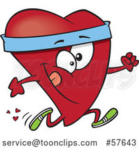 Cartoon Fit Love Heart Character Running by Toonaday