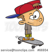 Cartoon White Boy Skateboarding by Toonaday