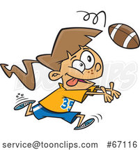 Cartoon White Girl Catching a Football by Toonaday