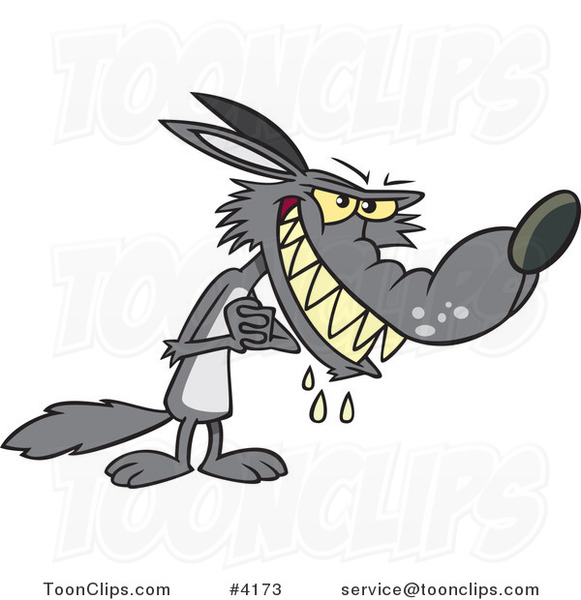 Cartoon Big Bad Wolf Drooling 4173 By Ron Leishman