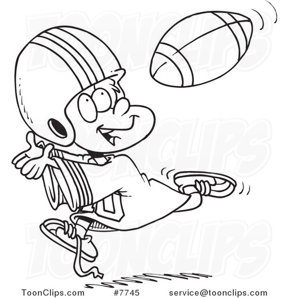 Dogs Playing Football Coloring Pages