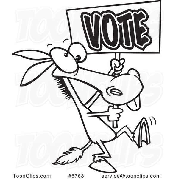 Vote Clipart Black And White