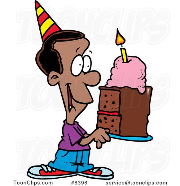 Cartoon St Birthday Cake