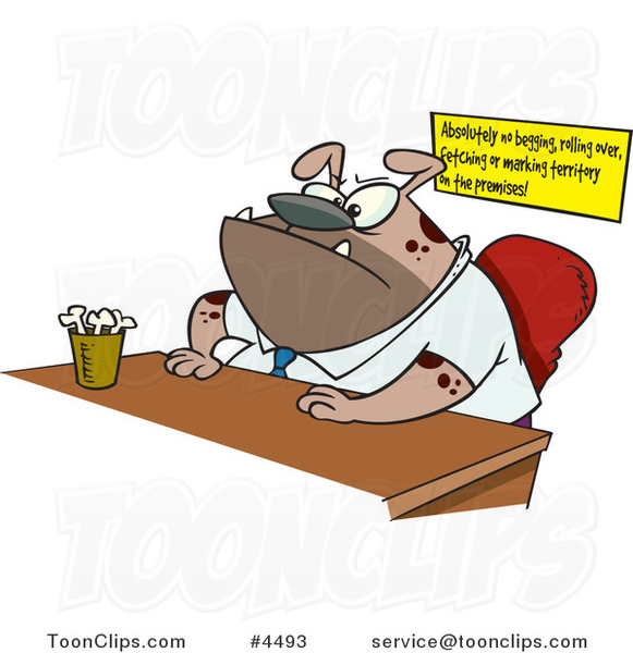 Swell Cartoon Boss Dog Sitting At His Desk 4493 By Ron Leishman Download Free Architecture Designs Scobabritishbridgeorg