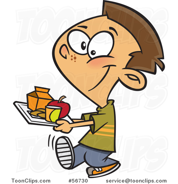 cartoon brunette white school boy carrying a cafeteria lunch tray 56730 by ron leishman hot lunch clipart hot lunch clipart free