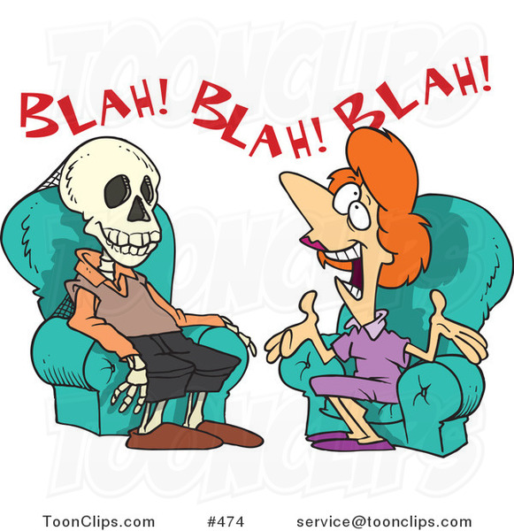 Cartoon Chatty Lady Talking a Guy to Death #474 by Ron ...
