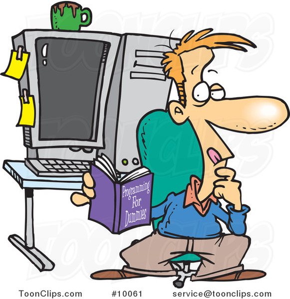 Cartoon Computer Programmer In His Office 10061 By Ron Leishman