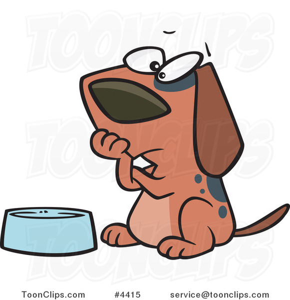 Image result for caricature of a hungry dog