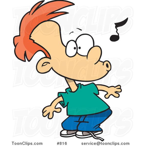 cartoon impressed boy whistling   ron leishman