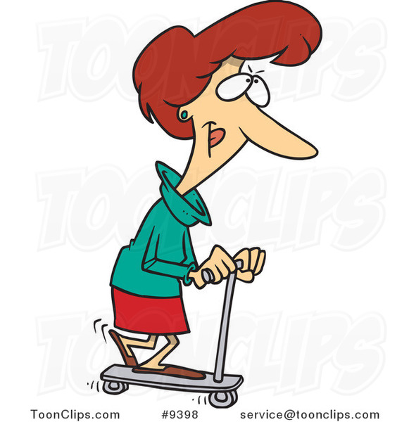 Riding Scooter Clipart