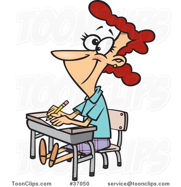 Cartoon Girl Students