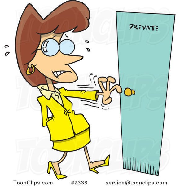 Cartoon Nervous Lady Opening a Private Door by Toonaday  sc 1 st  Ron Leishman & Business Cartoons by Ron Leishman - Page 19