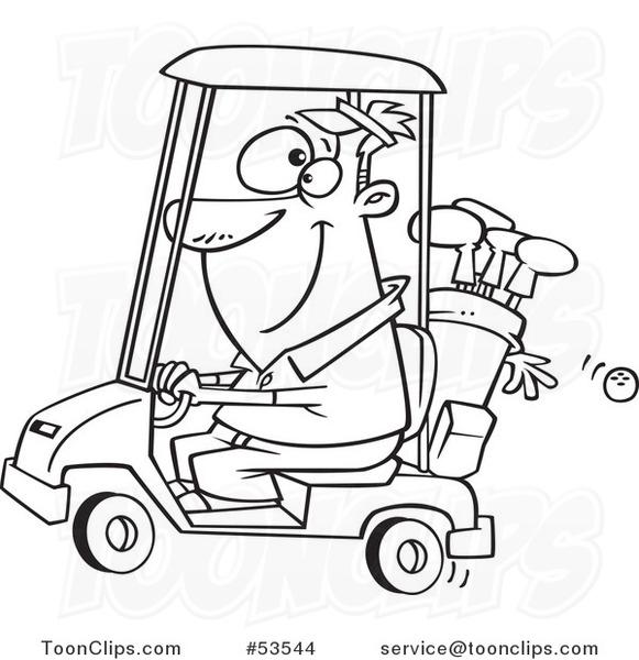 Guy On Golf Cart Golf Cart Golf Cart Customs