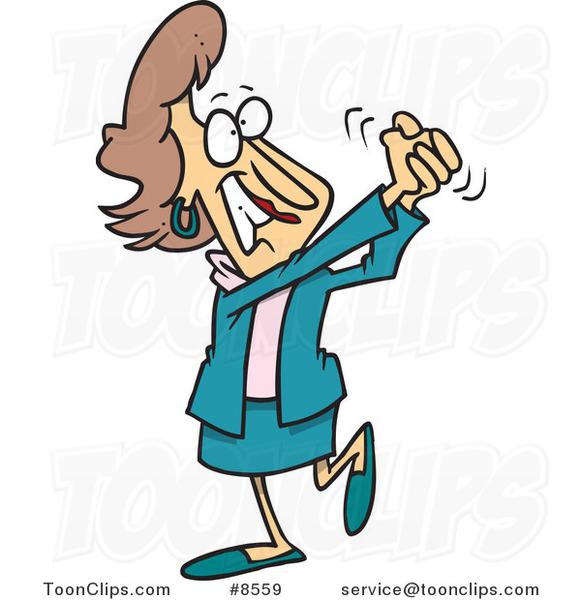 Cartoon Proud Business Woman 8559 By Ron Leishman