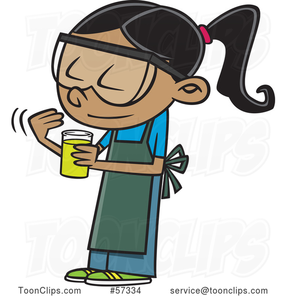 cartoon school girl looking at a smelling a chemical in christmas cartoon clipart free download christmas cartoon clipart free