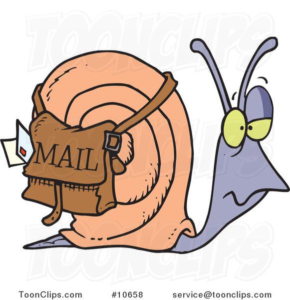 Cartoon Snail Mail #10658 by Ron Leishman