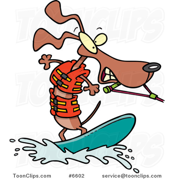 cartoon wakeboarding wiener dog 6602 by ron leishman clip art of fishing boats clip art of fisherman with lots of fish