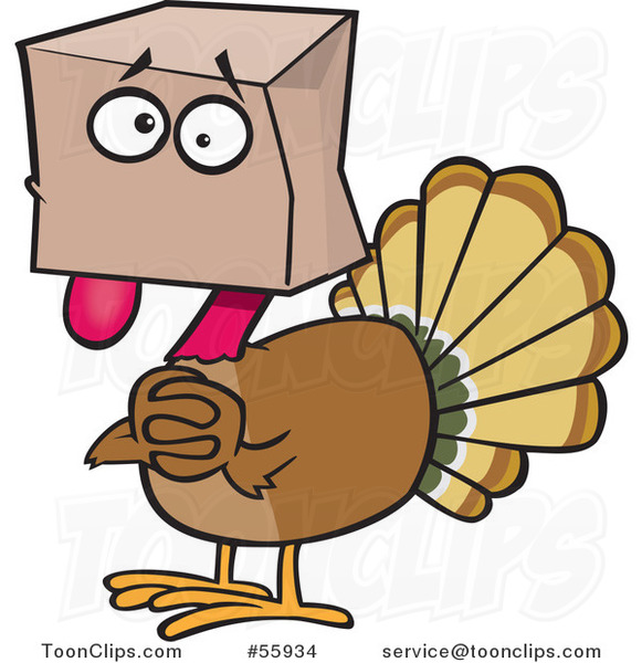 scared cartoon turkey bird hiding under a bag 55934 by free clipart summertime free clip art summer tree